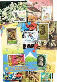 10 different Fujeira Souvenir and Miniature Sheets packet